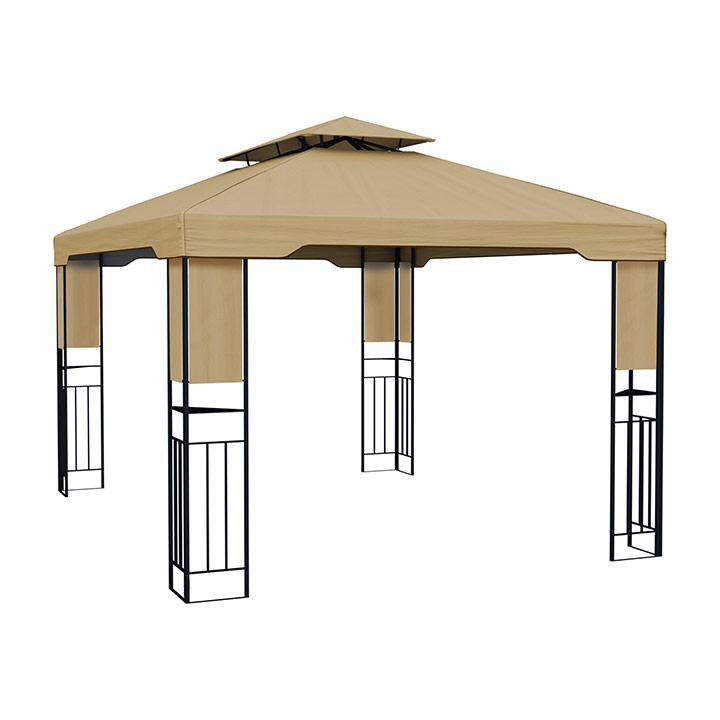 Structure de tonnelle avec toit Delux, 3x4 m, Beige