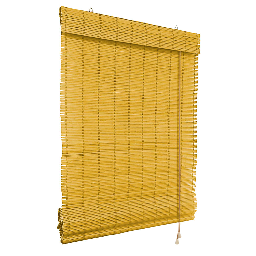 Store en Bambou type bateau, Jaune
