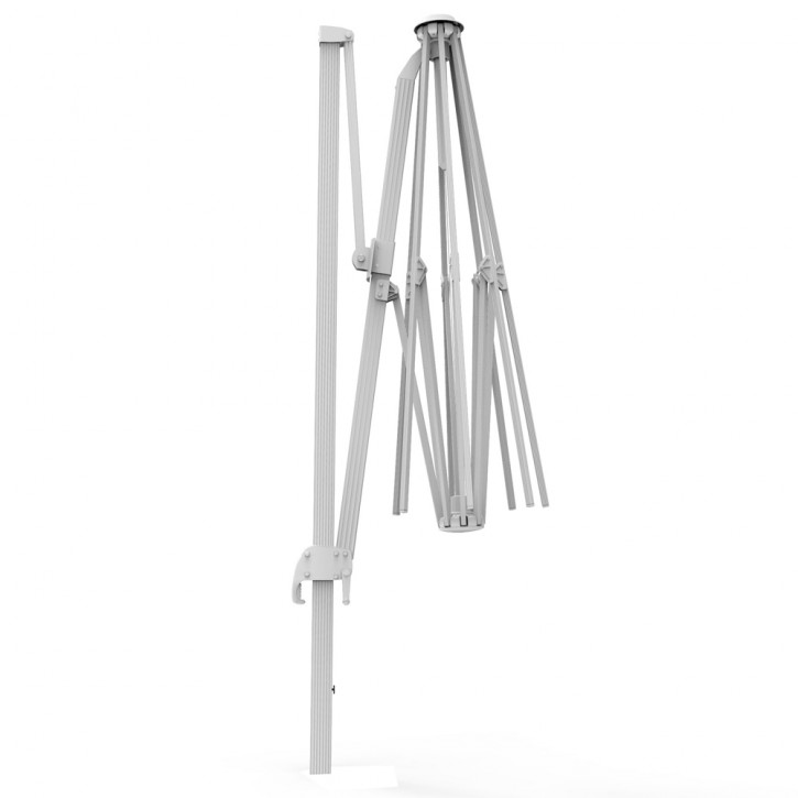 Mât en aluminium pour parasol déporté rond Parapenda, 3,5 m