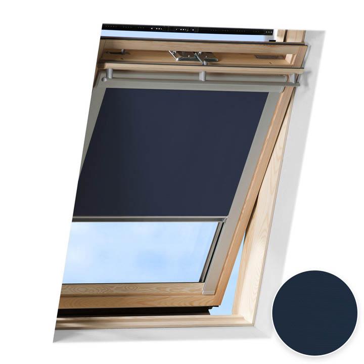 Store occultant pour fenêtre de toit compatible FAKRO ®, Bleu foncé