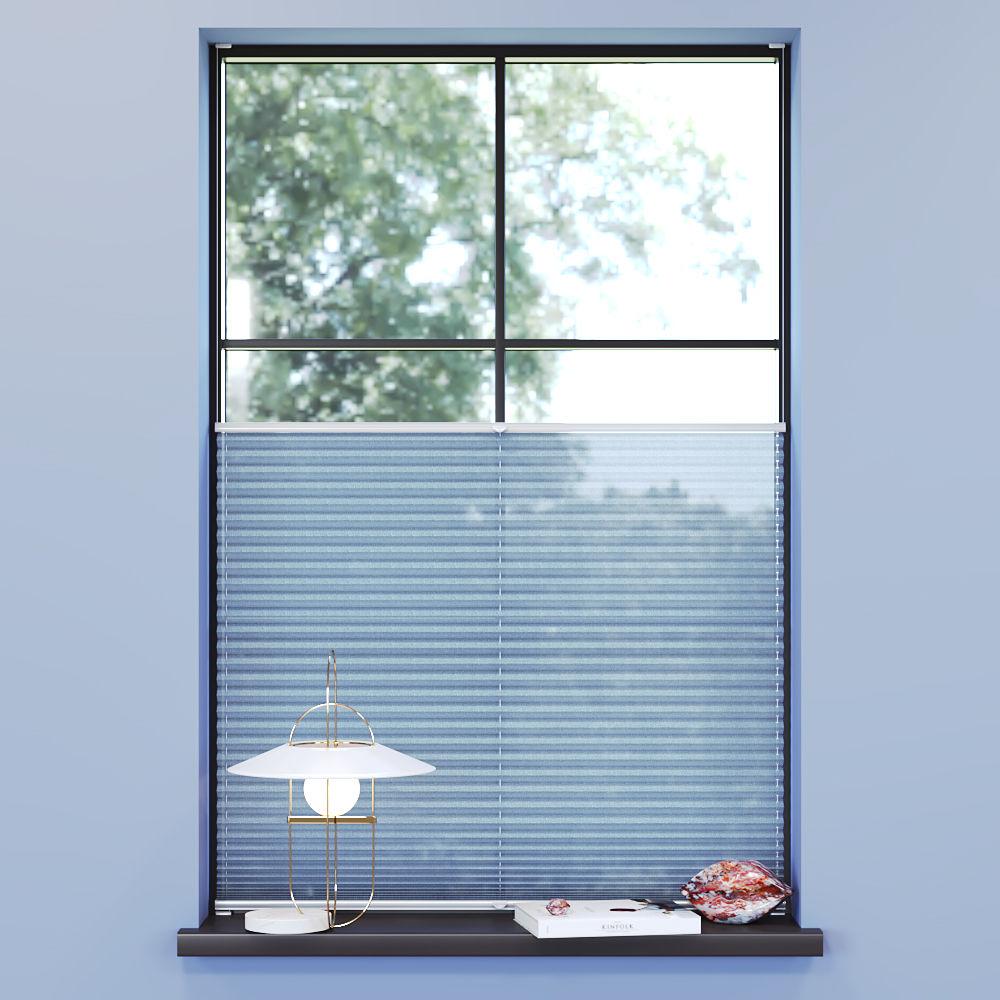 Store plissé voile, Sur mesure, Premium, Inès Bleu