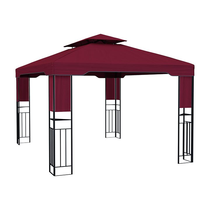 Structure de tonnelle avec toit Delux, 3x4 m, Bordeaux