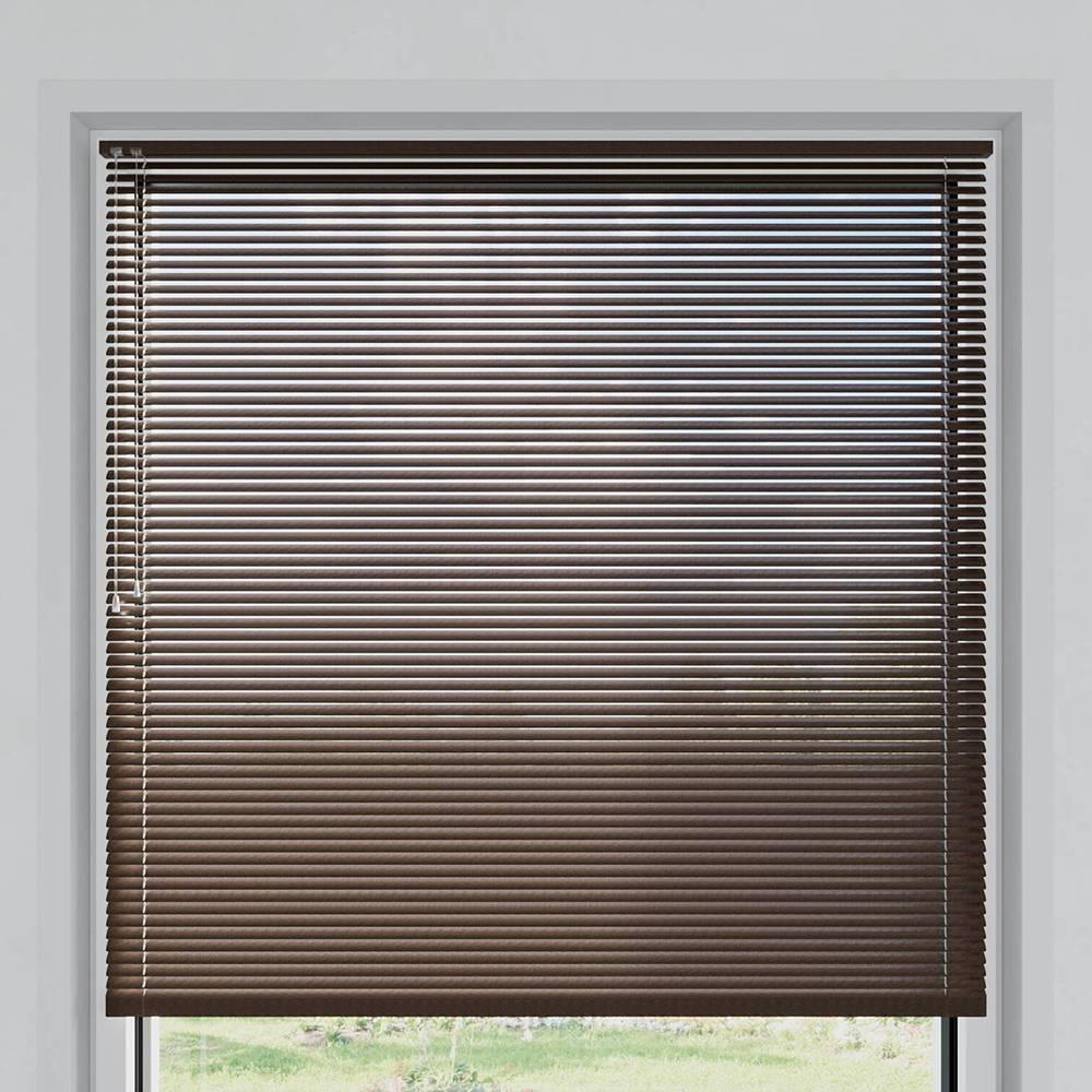 Store vénitien aluminium lames 25 mm, Écorce brune mat