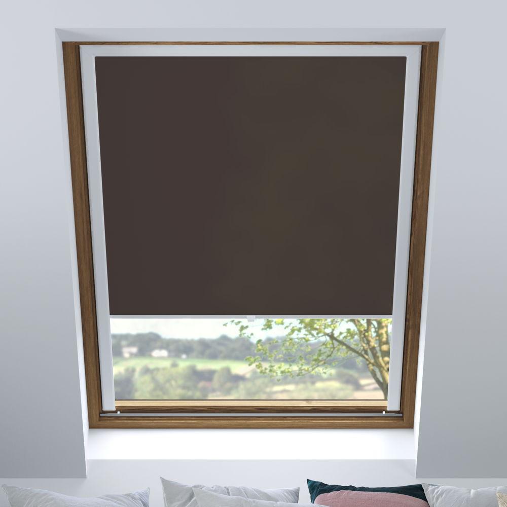 Store pour les fenêtres de toit, Sur mesure, Tamisant, Chocolat