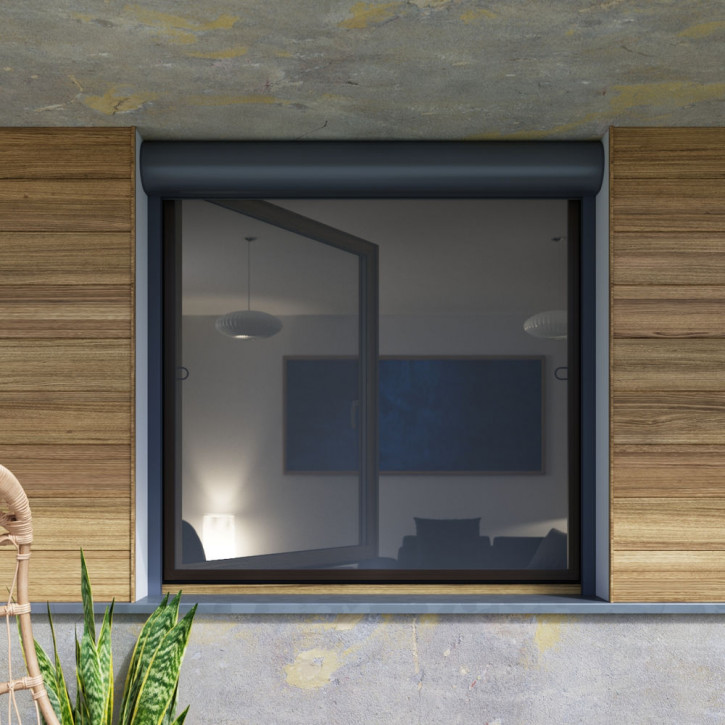 Moustiquaire cadre fixe pour fenêtre avec volet roulant