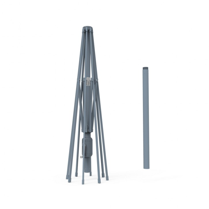 Mât en aluminium pour parasol droit rond Interpara 3,5 m