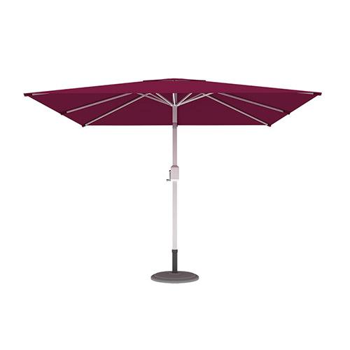 Parasol droit orientable carré, 3x3 m, Bordeaux