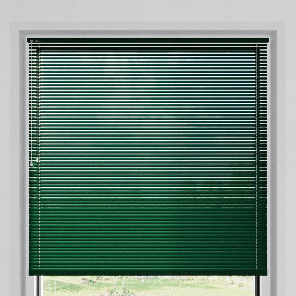 Store vénitien aluminium lames 25 mm, Vert bouteille mat