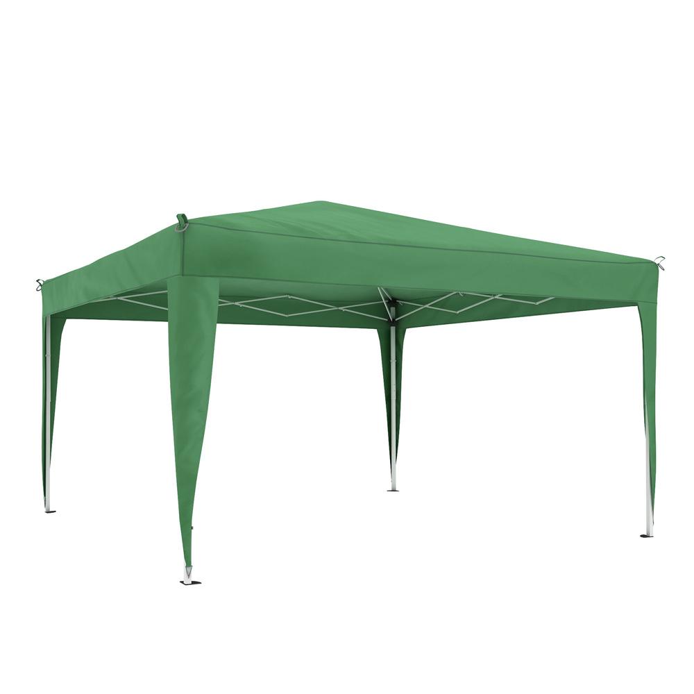 Structure de tonnelle avec toit Premium, 3x3 m, Vert