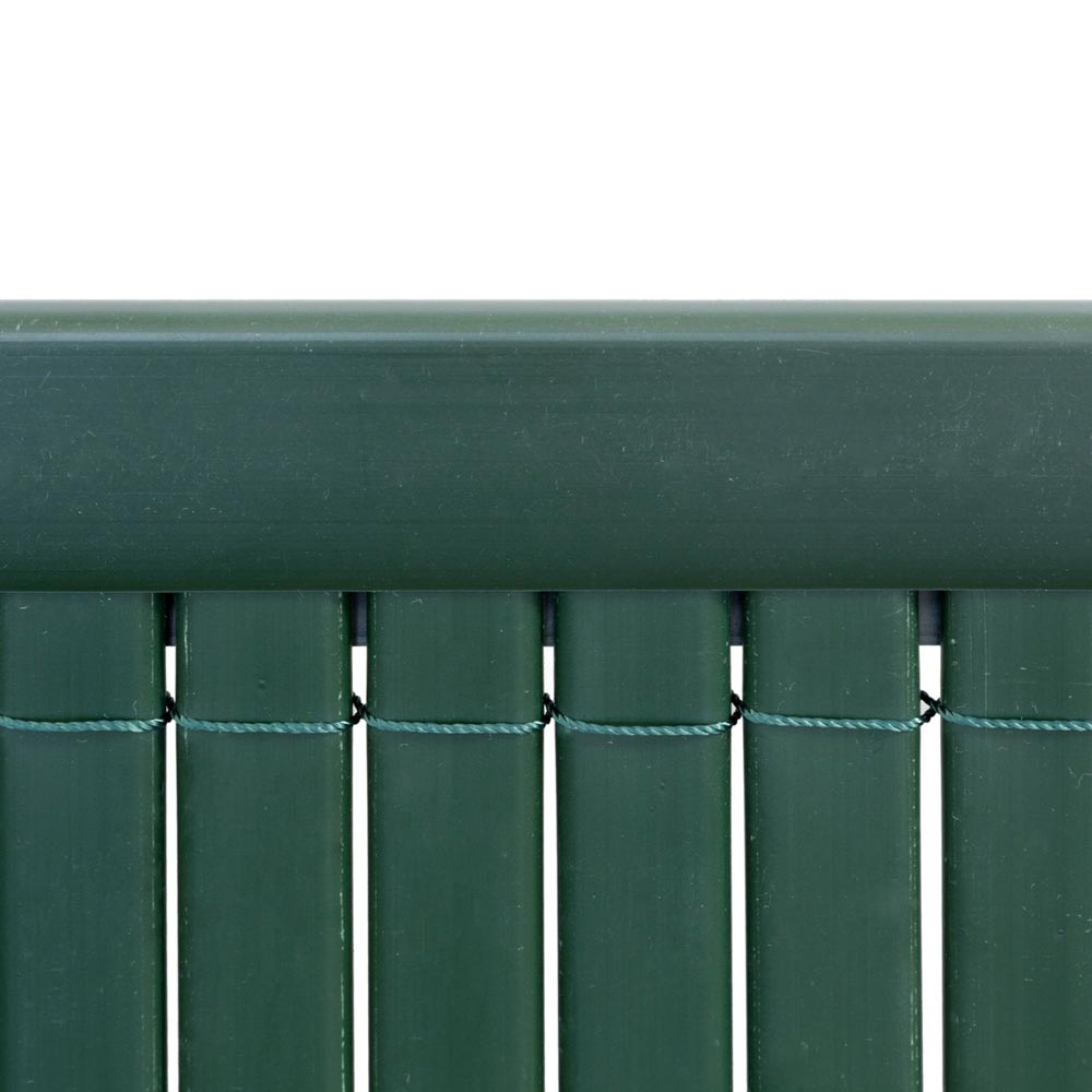 Profilé de finition en PVC pour canisses, 2m, Vert