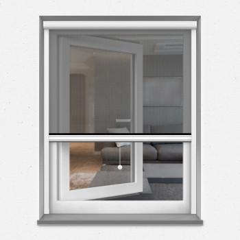 Garages Blanc 150x220CM Enroulable Fen/êTres Coulissantes Personnalisable WISKEO Moustiquaire sur Mesure Aimant/éE Animaux Accept/éS Moustique