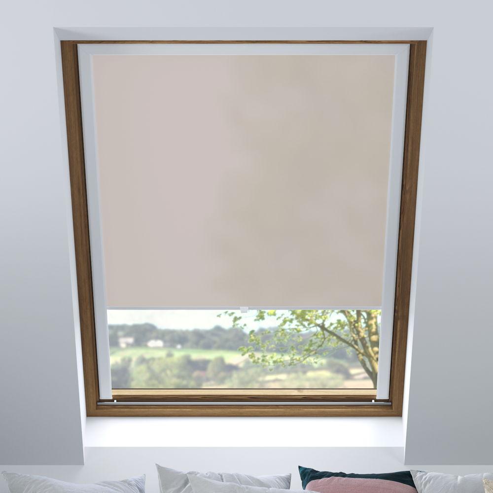 Store pour les fenêtres de toit, Sur mesure, Tamisant, Lin
