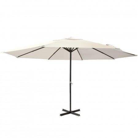 Parasol de jardin droit, forme ronde 5 m