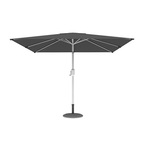 Parasol droit orientable carré, 3x3 m, Gris