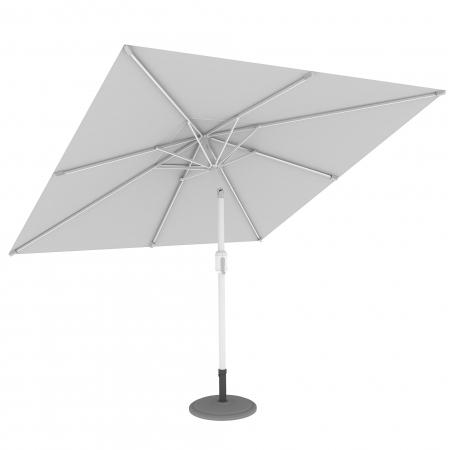 Parasol de terrasse droit orientable, forme carrée 3x3 m, Blanc