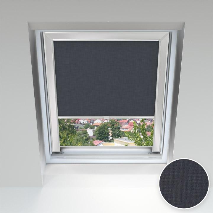 Store pour les fenêtres de toit, Sur mesure, Noir