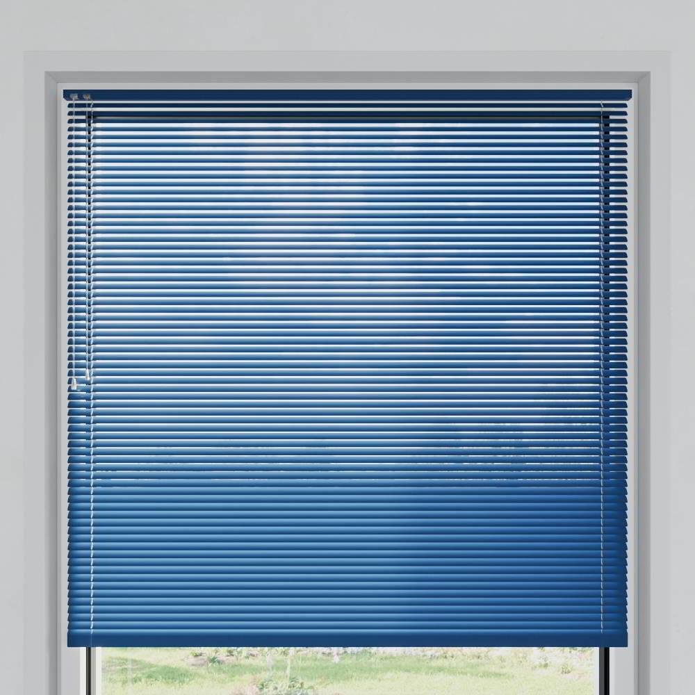 Store vénitien aluminium lames 25 mm, Bleuet mat