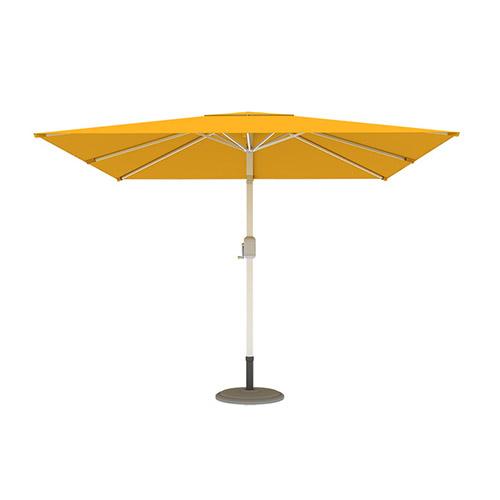 Parasol droit orientable carré, 3x3 m, Jaune